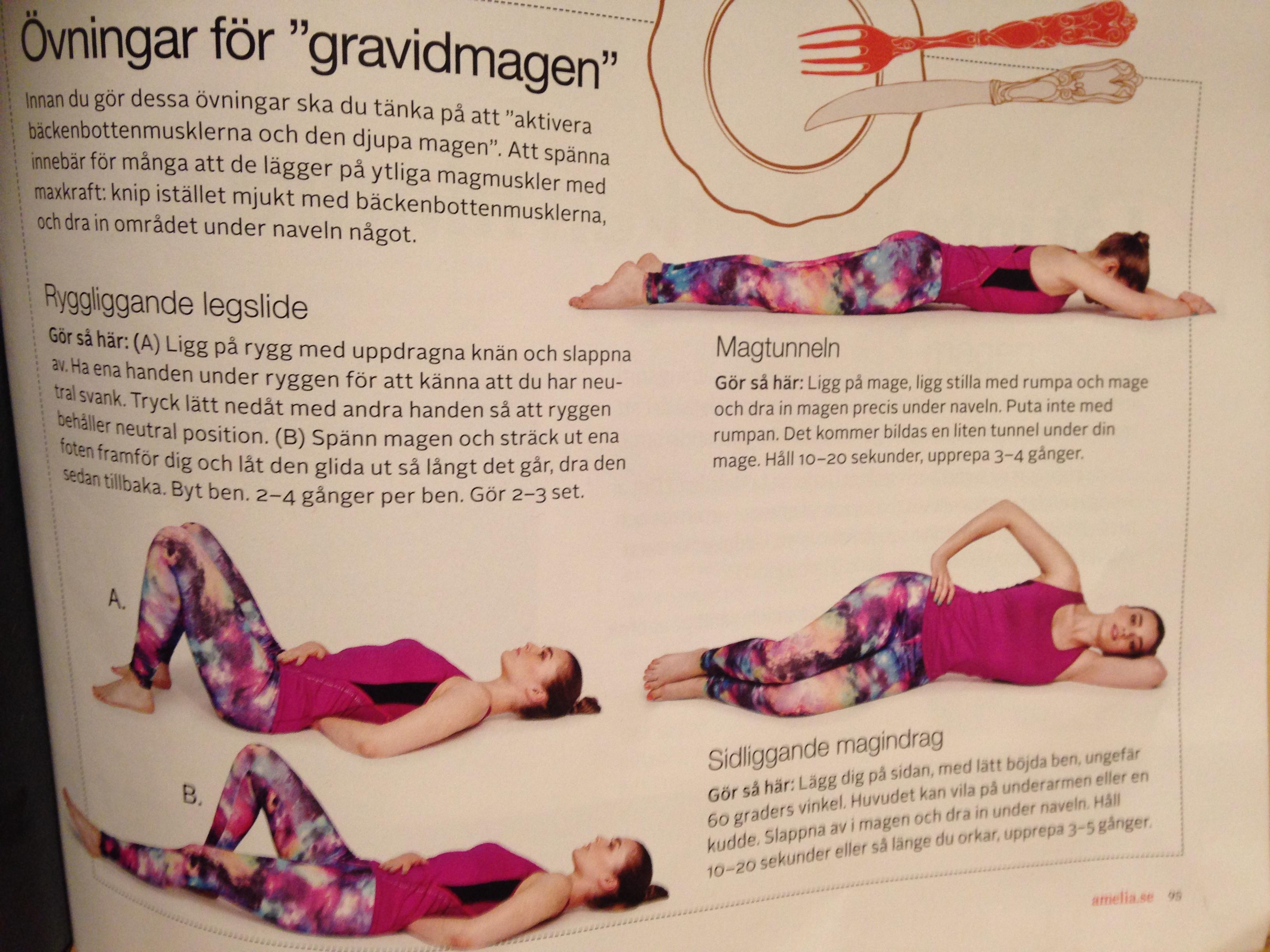 träna mage efter graviditet